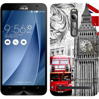 WOW Printed Back Cover Case for Asus Zenfone 2 ZE550ML