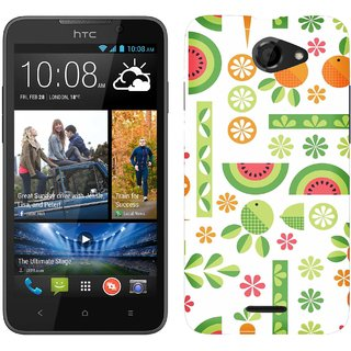 WOW Printed Back Cover Case for HTC Desire 516