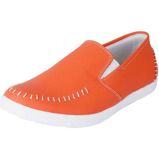Fausto MenS Orange Casual Loafers (FST 1042 ORANGE)