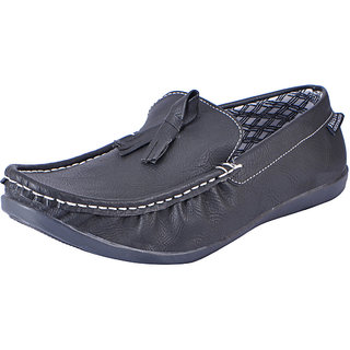 Fausto MenS Black Casual Loafers (FST 1043 BLACK)
