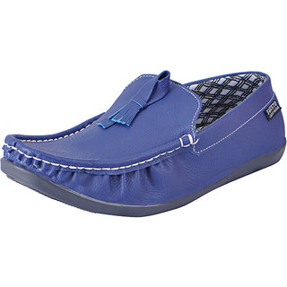 Fausto MenS Blue Casual Loafers (FST 1043 BLUE)