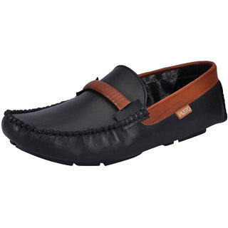 Fausto MenS Black Casual Loafers (FST 1509 BLACK)