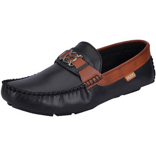 Fausto MenS Black Casual Loafers (FST 1513 BLACK)