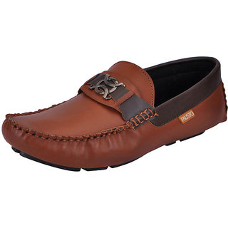 Fausto MenS Tan Casual Loafers (FST 1513 TAN)
