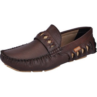 Fausto MenS Brown Casual Loafers (FST 1514 BROWN)