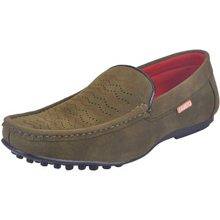 Fausto MenS Green Casual Loafers (FST 7003 GREEN)