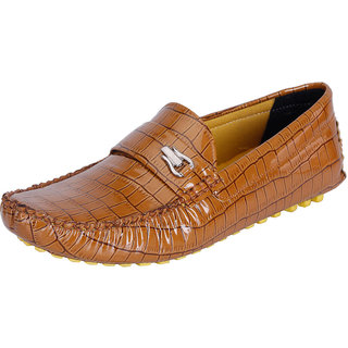 Fausto MenS Brown Casual Loafers (FST 789 TAN)
