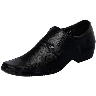 Fausto MenS Black Formal Slip On Shoes (FST 1606 BLACK)