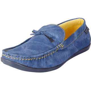 Fausto MenS Blue Casual Loafers (FST 1039 BLUE)