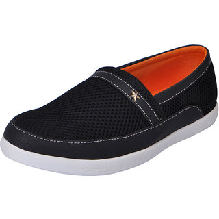 Fausto MenS Black Casual Loafers (FST 1041 BLACK)