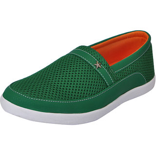 Fausto MenS Green Casual Loafers (FST 1041 GREEN)