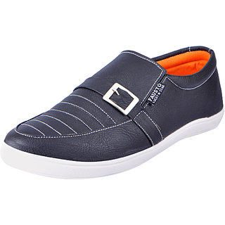 Fausto MenS Black Casual Loafers (FST 1649 BLACK)
