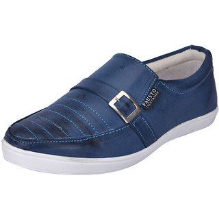 Fausto MenS Blue Casual Loafers (FST 1649 BLUE)
