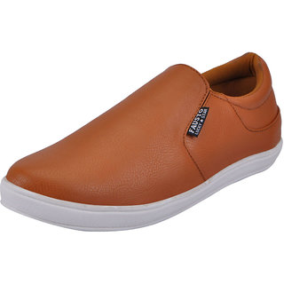 Fausto MenS Tan Casual Loafers (FST 1663 TAN)