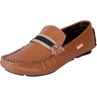 Fausto MenS Brown Casual Loafers (FST 3012 BROWN)
