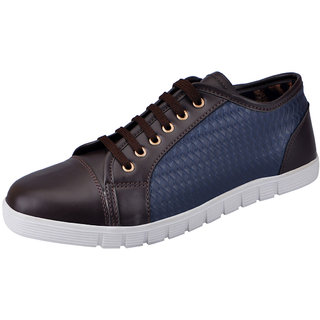 Fausto MenS Brown Sneakers Lace-Up Shoes (FST 3037 BROWN)