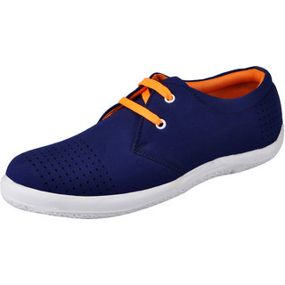 Fausto MenS Blue Sneakers Lace-Up Shoes (FST 3038 BLUE)