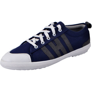 Fausto MenS Blue Sneakers Lace-Up Shoes (FST 3039 BLUE)