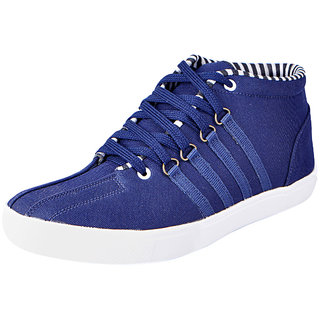 Fausto MenS Blue Sneakers Lace-Up Shoes (FST 6008 BLUE)