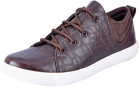 Fausto MenS Brown Sneakers Lace-Up Shoes (FST 6050 BROWN)