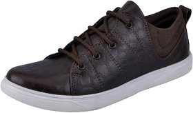 Fausto MenS Brown Sneakers Lace-Up Shoes (FST K6050 BROWN)