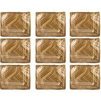 Annapurna Sales Golden Satin Small Saree Cover - Set Of - 92464853