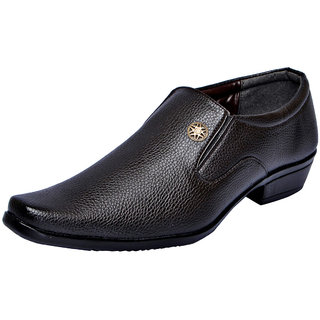 Fausto MenS Brown Formal Slip On Shoes (FST 1613 BROWN)