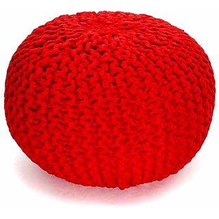 Indologie Red Plain Pouff