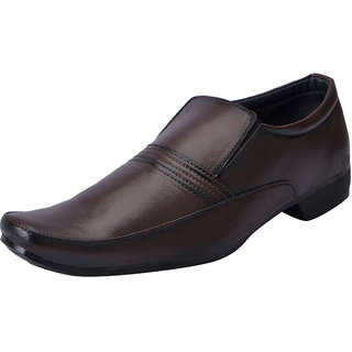 Fausto MenS Brown Formal Slip On Shoes (FST 3211 BROWN)