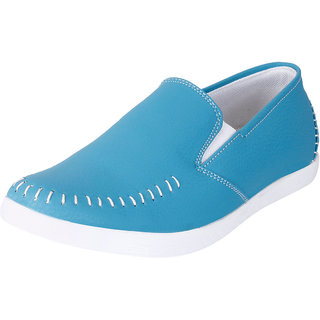 Fausto MenS Light Blue Casual Loafers (FST 1042 SKY BLUE)