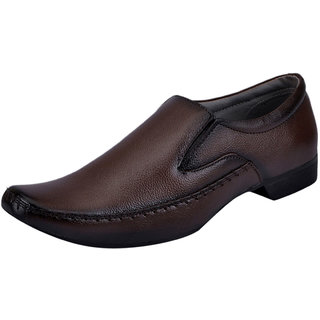 Fausto MenS Brown Formal Slip On Shoes (FST 506 BROWN)