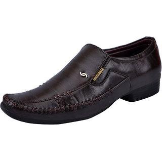 Fausto MenS Brown Formal Slip On Shoes (FST K6068 BROWN)
