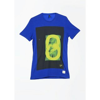 udays Mens solid T shirt Blue in Color