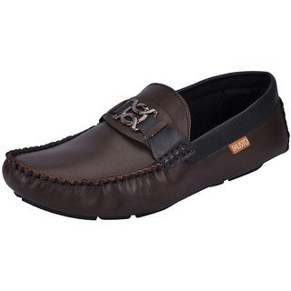 Fausto MenS Brown Casual Loafers (FST 1513 BROWN)