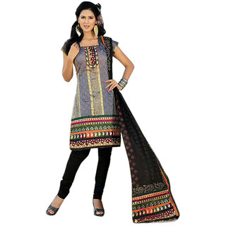 Triveni Elegant Multicolor Printed Casual Wear Salwar Kameez  (Unstitched)