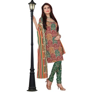 Triveni Charming Multicolor Casual Wear Indian Traditional Salwar Kameez Design 1 (Unstitched)