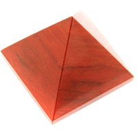 452 Cts Red Jasper Gemstone Healing Pyramid