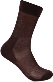 Bonjour Mens Cotton Socks In Brown Colour BS1901- 3 Pairs