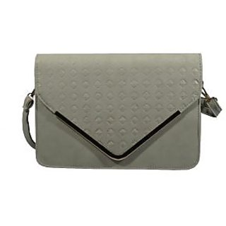 BagsHub Grey Diamond Patterned Envelope Sling Bag