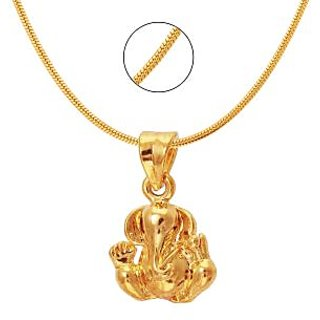 Mahi Gold Plated Gold Alloy & Brass & Copper Pendant With Chain Only for Women