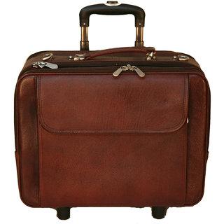 100 Genuine INDIAN Leather new Cabin Luggage Bag Travel Bag Trolley Bag BR 39