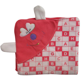 Garg Alphabetical Carrot Attractive Hood And Ears Baby Blanket