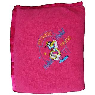 Garg Antipilling Pink Baby Blanket - Assorted Design