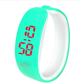 Brandedking colorful Bangle Digital LED watch Sky Blue