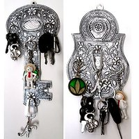 Wall mounted Key Stand/Holder - Key or Lock Design - 1 Pc Only