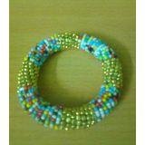 Beads And Brass Spring Bracelet Multicolour