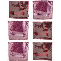 Annapurna Sales Maroon And Purple Satin Large Saree Cov