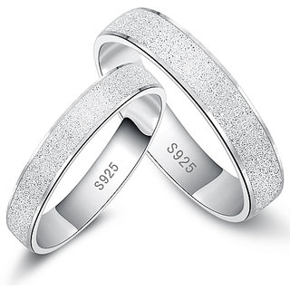 RM Jewellers 92.5 Sterling Pure Silver Amazing Best Promise Couple Band For Men and Women
