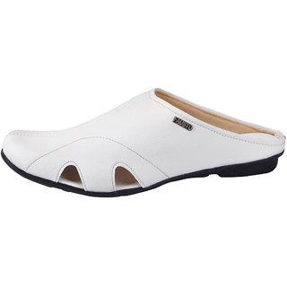 Buy Fausto MenS White Slippers (FST