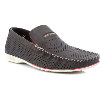 red tape mens brown casual slip on shoes rts9102